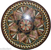 Table Top Stone Marble Inlay Pietra Dura Mosaic Dining Coffee Floor Insert