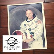 Neil Armstrong Zarelli Loa Autograph Red Number Wss Litho Apollo 11 Signed