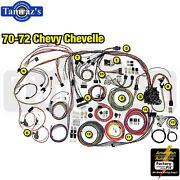 70-72 Chevl Classic Update Series Complete Body And Interior Wiring Harness Kit