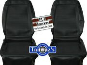 1964 1965 Barracuda Fastback Front And Rear Seat Covers Upholstery Black Pui New