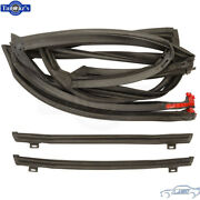 82-92 F Body T-top Roof And Glass Side Weatherstrip Seal Set - Soffseal 3196