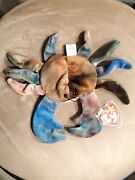 Ty Beanie Babies Claude The Tie-dyed Crab Authentic Original Condition