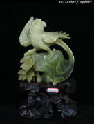 Folk China Natural Xiuyan Jade Hand Carved Dynasty Palace Fengshui Parrot Statue