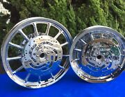 Sold Harley Dyna Wheels/rims Fxd Single And Daul Disc Chrome Wheels And Bearing
