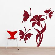 Wall Sticker Butter Fly With Swirl Design Mural Art Home Room Decor Picture