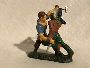 Rare Elastolin Composition North American Indian And Cowboy Figures 7cm Size