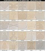 60 Pack Laser Cut 5 Clear Acrylic Blank Shapes Diy Crafts Jewelry Gifts