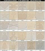 60 Pack Laser Cut 4 Clear Acrylic Blank Shapes Diy Crafts Jewelry Gifts