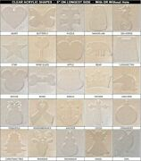 30 Pack Laser Cut 5 Clear Acrylic Blank Shapes Diy Crafts Jewelry Gifts