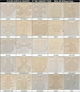 40 Pack Laser Cut 6 Clear Acrylic Blank Shapes Diy Crafts Jewelry Gifts