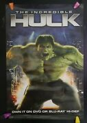 2 Sided Incredible Hulk Movie Poster Marvel