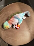 Ty Beanie Babies Iggy The Tie-dyed Iguana Authentic Original Condition