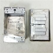 New Mason Weatherproof Metal Electrical Junction Box And Outlet Cover - 1 Each
