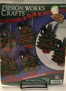 Design Works Crafts 6 Christmas Tree Silverware Pockets 5372 New Holiday