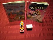 Tootle The Train And Car Super Rare For Wood Track + 2 Little Golden Books