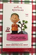 Hallmark 2013 What Christmas Is All About Charlie Brown Ornament New Magic