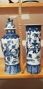 18th /19th Century Fine Chinese Blue And White Porcelain Vase See Pictures Closely