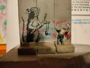 Banksy Mouse Original Direct From The Walled Off Hotel Bethlehem With Receipt