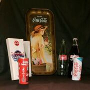 Lot Of 7 Vintage Coca Cola Coke From The 50's To 2000's Memorabilia Collectibles