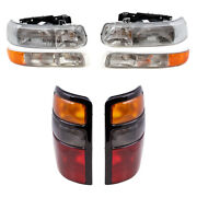 6 Pc Headlights Tail Lights And Park Signal Side Lamp Set For 04-06 Tahoe Suburban