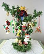 Handmade Forever Christmas Tree Decorated W/ornaments Metal Base Home Decoration