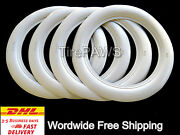 Universal Tire Style R14'' X3inch Wide Whitewall Portawall 4 Pcs.free Shipping