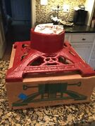 Christmas Tree Stand Cast Iron - Liberty Foundry St. Louis Mo - Vintage