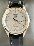 Perfect Condition Menand039s Tag Heuer Calibre 7 Twin Time Gmt Watch/original Buckle