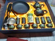 Vintage Japanese/chinese Dragon Encrusted Imperial Tea Set And Box