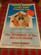 The Teahouse Of The August Moon 1956 27x41 Orig Movie Poster Marlo Brando Poste
