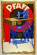 Pfaff Sewing Machine Germany Vintage Porcelain Enamel Sign Collectibles Adver2