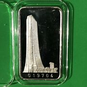 First National Bank Of Chicago 1 Troy Oz .999 Fine Pure Silver Ingot Bar Medal