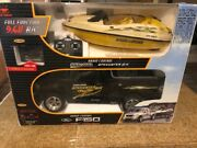 New Bright 1/6 Scale Ford F-150 Lightning Rc Truck W/ Boat Seadoo Remote Large