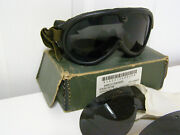 Vintage Military Goggles Sun Wind And Dust Mine Safety Appliance Co. 306805