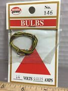 2 Model Power 14 Volts Packages Of Bulbs, Any-scale Buildings And More