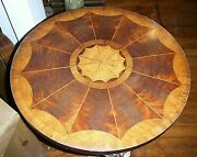 Vtg 1980s Maitland Smith French Empire 21 Round Occasional Table Marble Swans