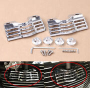 Chrome Finned Slotted Head Bolt Spark Plug Cover For Harley Touring Glides 7260