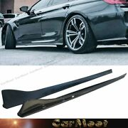 Carbon Fiber Pattern Side Skirt Splitter Lip 3d Look For 14-18 F06 M6 Gran-coupe