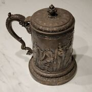 Elkington And Co. 1335 Giant Stein - Heavy Weight - Detailed Embossed Art