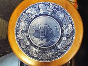 Antique Historical Blue Staffordshire Transferware Molly Pitcher Battle Plate