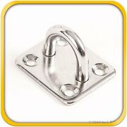 100 Steel Stainless 316 6mm Square Eye Plates 1/4 Marine Ss Pad Boat Rigging
