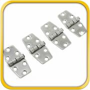 4 Boat Rv Door Hinges Polished Steel Stainless 3 X 1.5 Mirror Finish New Set