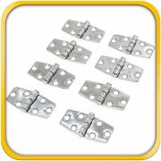 8 Boat Rv Door Hinges Polished Steel Stainless 3 X 1.5 Mirror Finish New Set