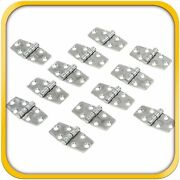 12 Boat Rv Door Hinges Polished Steel Stainless 3 X 1.5 Mirror Finish New Set