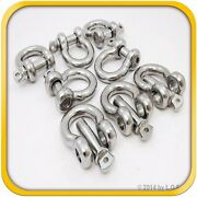 8 3/4 Steel Stainless Boat Anchor Bow Shackle Us-type Over Size 3/4 Screw Pin