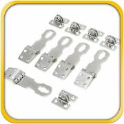 5 Door Clasp Padlock Hasps Latch 304 Steel Stainless For Sheds Gates 2-5/8 Size