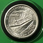 1975 Trans Alaskan Pipeline 1st Pipes 1 Troy Oz .999 Fine Silver Round Coin 999