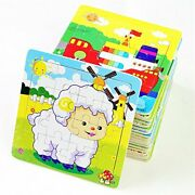 Deerbirdandreg Wooden Jigsaw Puzzle 16 Pieces Early Childhood Puzzle Toy Elephant Pan