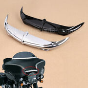 Bat Brow Fairing Accent For Harley Touring Electra / Street / Tri Glide 1996-13