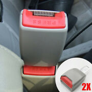 2 X Gray Car Safety Seat Belt Buckle Extension Extender Clip Alarm Stopper